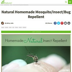 Homemade Mosquito Repellent: Keep Mosquitos & Bugs Away Naturally