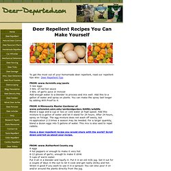 Deer Repellent Recipes For Homemade Deer Repellent