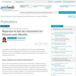 Repenser le test de classement en français avec Moodle