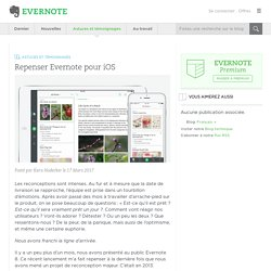 Repenser Evernote pour iOS - Evernote en français