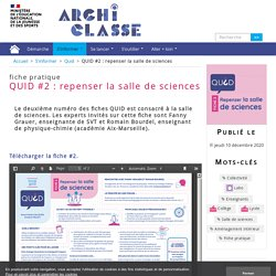 QUID #2 : repenser la salle de sciences
