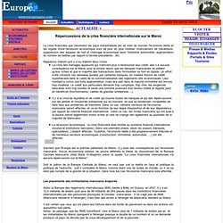 Répercussions de la crise financière internationale sur le Maroc