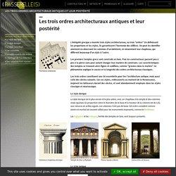 Repère : Les trois ordres architecturaux antiques
