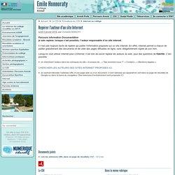 Repérer l'auteur d'un site Internet - Collège Emile Honnoraty à Annot