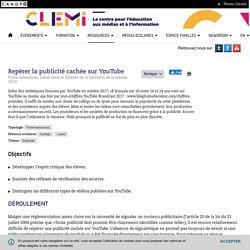 Repérer la publicité cachée sur YouTube- CLEMI