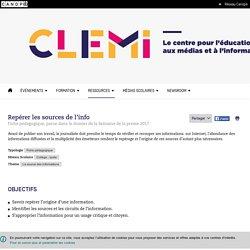 Repérer les sources de l'info- CLEMI