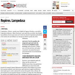 Repères. Lampedusa