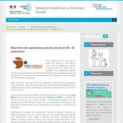 Répertoire des applications gratuites de dessin 3D 26 applications - Espace Ressources & Services - DANE Nice