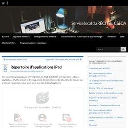 Répertoire d'applications iPad