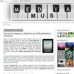 Mediamus: Evolver.fm propose un répertoire de 1700 applications musicales
