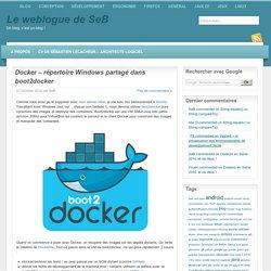 """"""" Docker – répertoire Windows partagé dans boot2docker"""" par Le weblogue de SeB"""