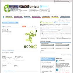 EcoAct / Répertoire des consultants / Nos services