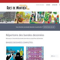 Répertoire des bandes dessinées – Rues de Montréal