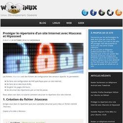 Protéger le répertoire d'un site Internet avec Htaccess et Htpasswd