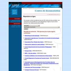 Répertoire en ligne des centres de documentation