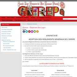 Répertoire Loges & ateliers