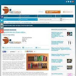 Répertoire des sites d'auto-édition