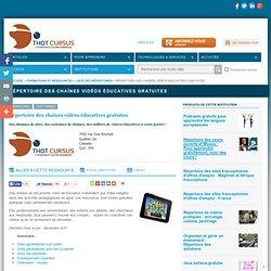 Répertoire des chaînes vidéos éducatives gratuites