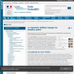 Le répertoire théâtral français du domaine public — Enseigner avec le numérique