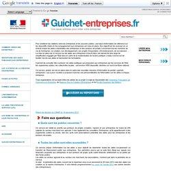 Répertoire des aides publiques aux entreprises