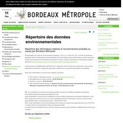 Répertoire des données environnementales