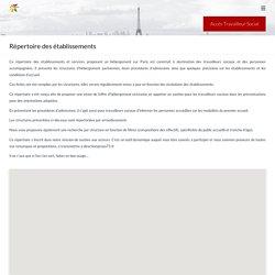 Répertoire des établissements - SIAO Insertion 75