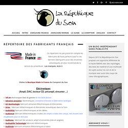 Répertoire des fabricants français