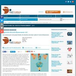 Répertoire du socio-financement : $ €