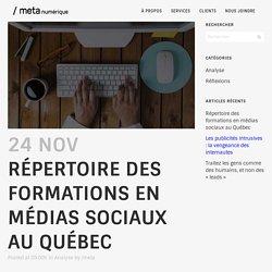 Répertoire des formations en médias sociaux au Québec