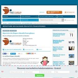 Répertoire des blogues éducatifs francophones