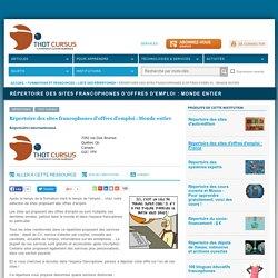 Répertoire des sites francophones d'offres d'emploi : Monde entier