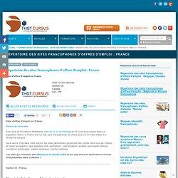 Répertoire des sites francophones d'offres d'emploi : France