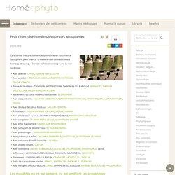 Petit répertoire homéopathique des acouphènes - Homeophyto