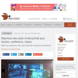 Répertoire des outils d'interactivité pour réunion, conférence, classe