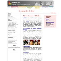 Sites web pour la littérature