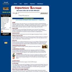 Des livres et des auteurs - Répertoire de Livresse.com - Littérature érotique