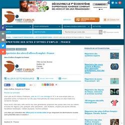 Répertoire des sites d'offres d'emploi : France