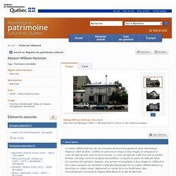 Maison William-Notman - Répertoire du patrimoine culturel du Québec