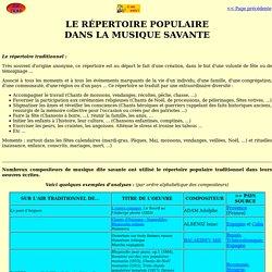 ZIC TRAD_Cours_Répertoire populaire dans musique savante
