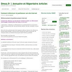 Annuaire et Répertoire Articles » Comment référencer et positionner son site internet