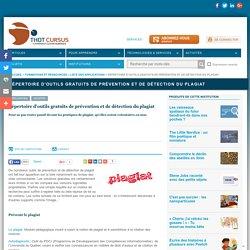 Répertoire d'outils gratuits de prévention et de détection du plagiat