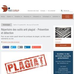 Répertoire des outils anti plagiat - Prévention et détection