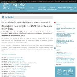 Répertoire des projets de SDCI présentés par les Préfets - Espelia