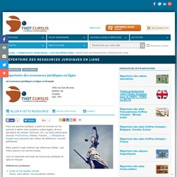 Répertoire des ressources juridiques en ligne