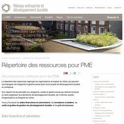 Répertoire des ressources pour PME