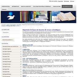 Répertoire de bases de données de revues scientifiques