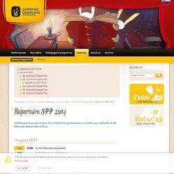 Repertoire SPP 2014 ~ Puppet Theatre Maribor