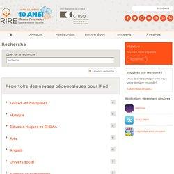 Répertoire des usages pédagogiques pour iPad