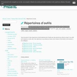Répertoires d'outils – ProSoTIC