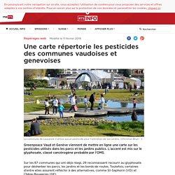 RTS_CH 10/02/16 Une carte répertorie les pesticides des communes vaudoises et genevoises